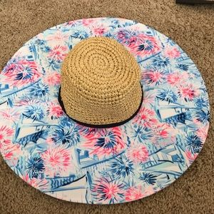 Lilly Pulitzer sun hat in sea to shining sea
